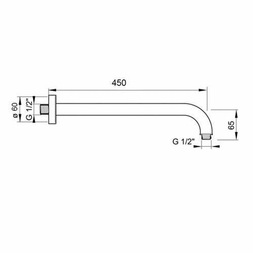 Hotbath-Mate-wandarm-45cm