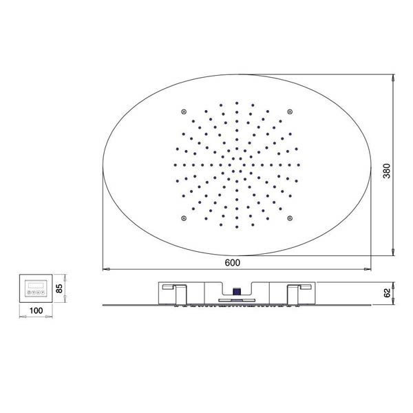 Hotbath-mate-inbouw-hoofddouche-led-chroom-M118CR