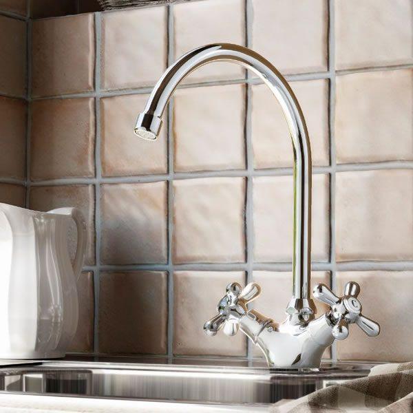 Hotbath-Amice-keukenkraan-klassiek-chroom-A040CR