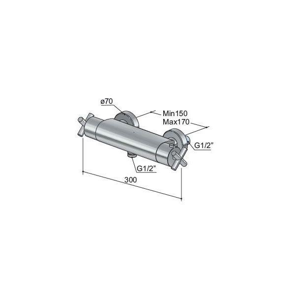 Hotbath-Chap-opbouw-douchethermostaatkraan-C008CR