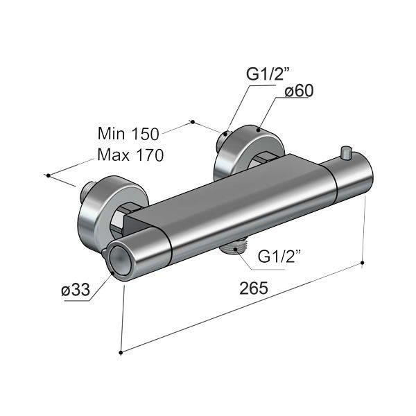 Hotbath-Gringo-opbouw-douchethermostaatkraan-chroom-GR008CR